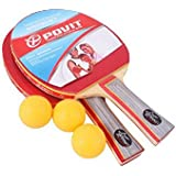 Panda Superstore Table Tennis Paddles PE-4225 Cheap Table Tennis Rackets With Three Balls