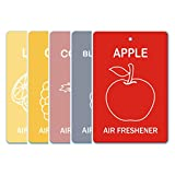 Edelcrafts Car Home Office Paper Hanging Air Freshener (Buy 4 Get 5) - FREE SHIPPING - Choice: Apple, Blackberry...