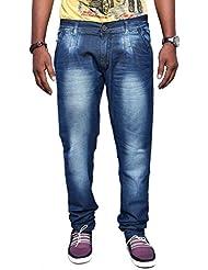Jugend Regular Fit Blue Stretchable Jeans For Men