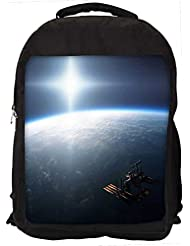 """Snoogg Earth From Top Casual Laptop Backpak Fits All 15 - 15.6"""" Inch Laptops"""