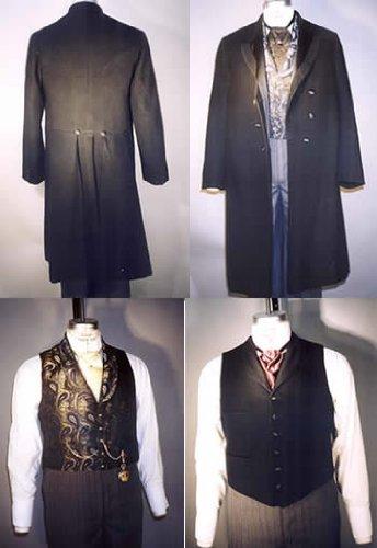 Men's Vintage Reproduction Sewing Patterns 1850-1915 Mens Coats Vests $17.95 AT vintagedancer.com