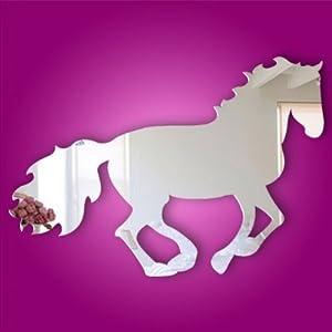 Amazon.com - Kids Acrylic Mirror Horse Wall Decal or Wall ...