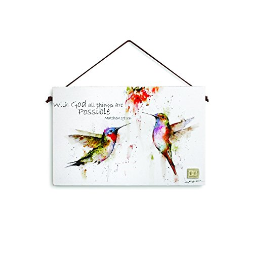 Hummingbird Inspirational Wall Plaque