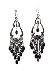 Freedom And Culture Multi-Colour Brass Black Earrings With Beads For Women