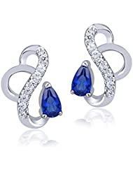 Shiyara Jewells Sterling Silver Forever Flashy Earrings With CZ Stones For Women(ER00704)