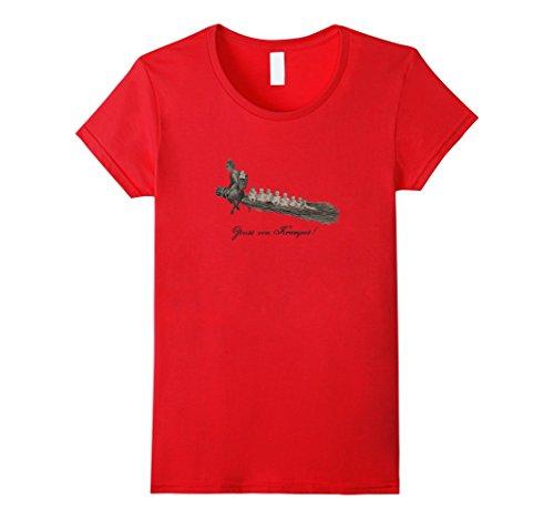 Women's Krampus Carrying Away Babies T-Shirt Medium Red