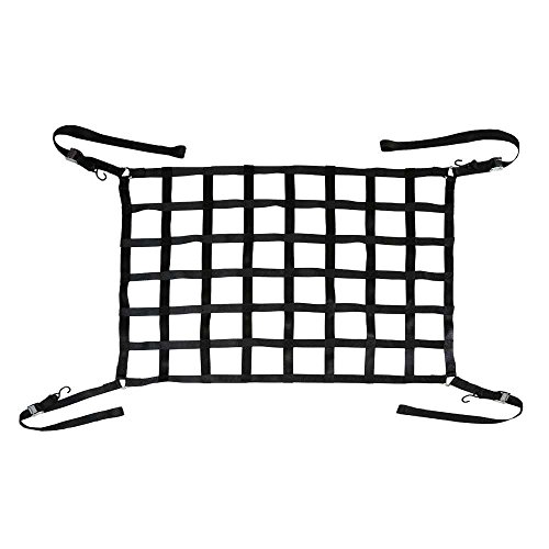 50″ x 66″ Short Bed Pickup Truck Cargo Net with Cam Buckles & S-Hooks – US Cargo Control