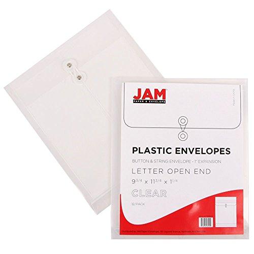 Clear Plastic Button String Letter Open End 9.75x11.75 Envel