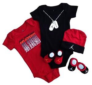 Amazon.com: Nike Jordan Infant New Born Baby Boy/Girl 0-6 ...