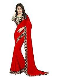 RadadiyaTRD Women's Clothing Designer Limited Stock Sale Offer Buy Online In Red Color Georgette Material New...
