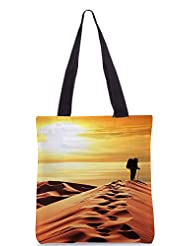 Snoogg Desert Sunset Poly Canvas Tote Bag