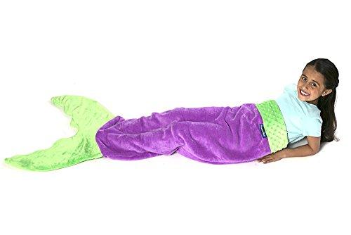 Blankie Tails Mermaid Tail Blanket (Ages 3-12) (Purple/Seafoam)