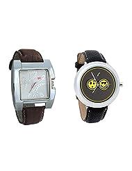 Gledati Men's White Dial & Foster's Women's Grey Dial Analog Watch Combo_ADCOMB0002278