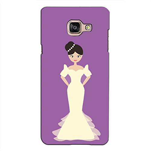 PrintVisa Designer Back Case Cover For Samsung Galaxy On Max (White Bridal Dress With Flowers)