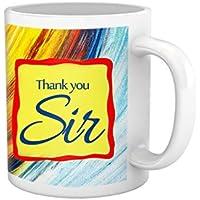 Tied Ribbons Teachers Day|teacher Thank You Sir Printed Coffee Mug(325 Ml, White)