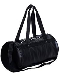 Dee Mannequin Trendy Black Leather Rite Duffle Bag