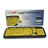 Ergoguys Ezsee Low Vision Keyboard Large Print Yellow Keys (CD-1038) -