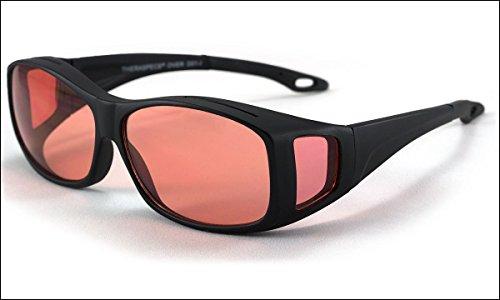 Theraspecs Over-Rx Glasses: Indoor Tint Fits Over Prescription Eyewear