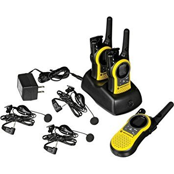 Motorola Rechargeable FRS/GMRS Two Way Radios, TRIPLE PACK, Wireless 23 Mile Range, Features NOAA Weather Channels, And IVOX Hands-Free Operation, Belt Clips, Dual Desktop Charger, And Ear Bud Included