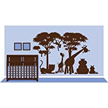 Large Silhouette Safari 1 Paint by Number Wall Mural