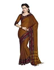 Aadarshini Women's Cotton Saree (4038, Gold)