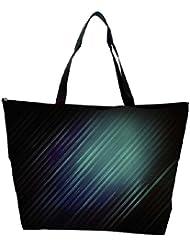 Snoogg Black Background Rays Designer Waterproof Bag Made Of High Strength Nylon