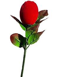 Far Vision Velvet Red Rose Ring Box For Gift Pack Of 3 . ON SALE NOW !