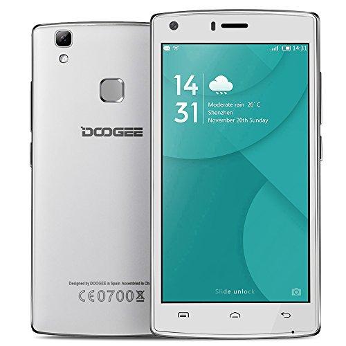 "DOOGEE X5 MAX Pro 4G Smartphone MTK6737 64 bits Android 6,0 2G + 16G 5,0"" IPS HD 1280 * 720 Pixels 8MP + 8MP Double Caméras Empreintes Digitales Déverrouiller Geste Intelligent OTG"