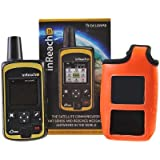 DeLorme InReach SE Two-Way Satellite Communicator With Built In Navigation With A ORANGE Flotation Case By GTC