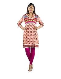 Rama Casual 3/4 Sleeve Floral Print Women's Kurti - B00VBIOJL6