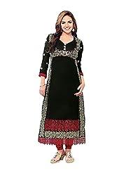 Stylish Dress With Cotton Top And Cotton Bottom And Naznin Dupatta - B0191QR00Q