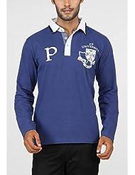 Paani Puri Men's Cotton Polo (Royal Blue)