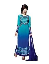 Mantra Fashion Intriguing Blue Pure Georgette Straight Salwar Kameez