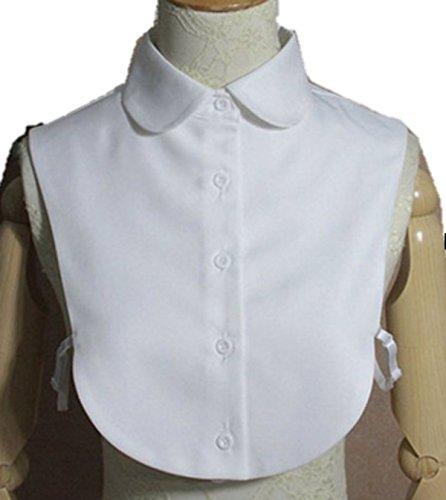fashiondays つけ襟 付け襟 シャツ 5ボタン 丸襟 白