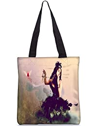 Snoogg Fly Away My Love Digitally Printed Utility Tote Bag Handbag Made Of Poly Canvas