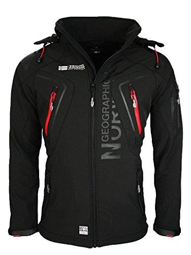 Geographical Norway Herren Softshell Funktions Outdoor Jacke wasserabweisend [GeNo-5-Schwarz-Gr.M]