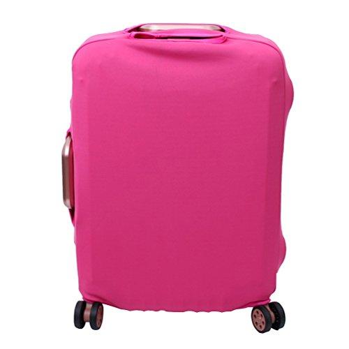 YiJee Thicken Wearproof Elasticidad Color del Caramelo Cubierta de Equipaje de Viaje Maleta Funda Protectora 18-32 Pulgadas, Rose 1, Large