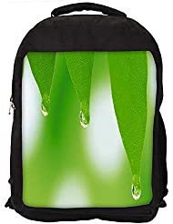 """Snoogg Leaves Dew Drops Casual Laptop Backpak Fits All 15 - 15.6"""" Inch Laptops"""