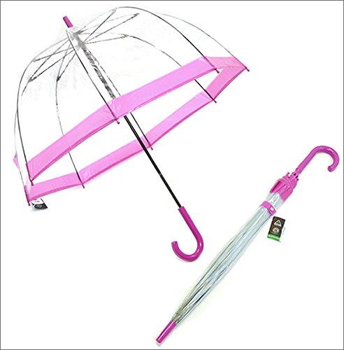 フルトン L041 015889 Birdcage-1 Pink バードケージ ビニール傘 長傘 エリザベス女王ご愛用モデル 鳥かごのようなドーム型のフォルムが魅力的なアンプレラ [並行輸入品]