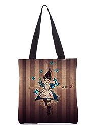Snoogg Cruel Alice Poly Canvas Tote Bag