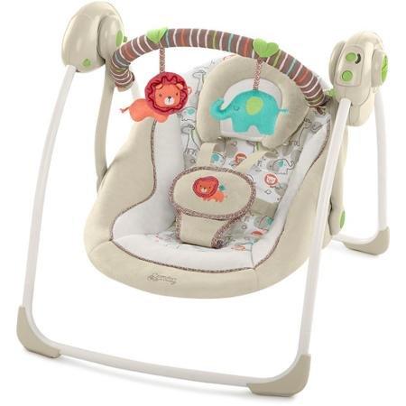 Bright Starts Comfort & Harmony Portable Swing, Cozy Kingdom