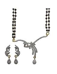 Sheetal Jewellery Silver & Golden Brass & Alloy Mangalsutra For Women - B00TIGZ3MW