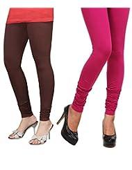Style Acquainted People Women's Cotton Leggings (Pack Of 2) - B015J89V98