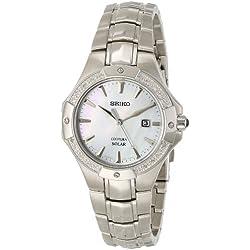 Seiko SUT123 - Reloj para mujeres color plateado