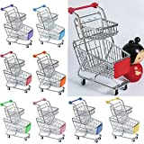 Banggood Kids Pretend Play Double Tier Shopping Cart Trolley Toy Xmas Gift Sky Blue
