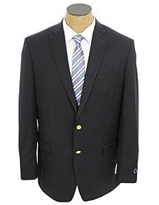 CHAPS Mens Navy Blue Wool Blend Blazer Sport Coat Jacket- Size 46S