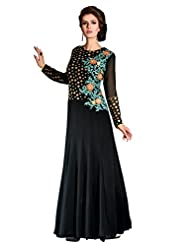 RGN Retails Womens Net Emroidered Partywear Gown Semistitched Dress Material - B00Y0TC5N2