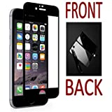 """Apple IPhone 6s Plus - ORIGINAL HIGH CLASS Front + Back """"COLOR"""" Tempered Glass For Apple IPhone 6s Plus (Black)"""