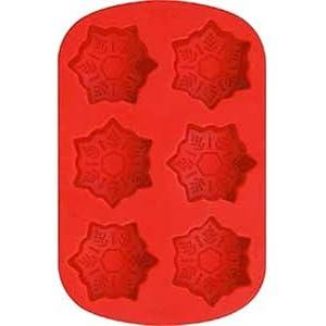 Wilton 6 Cavity Silicone Snowflake Pan
