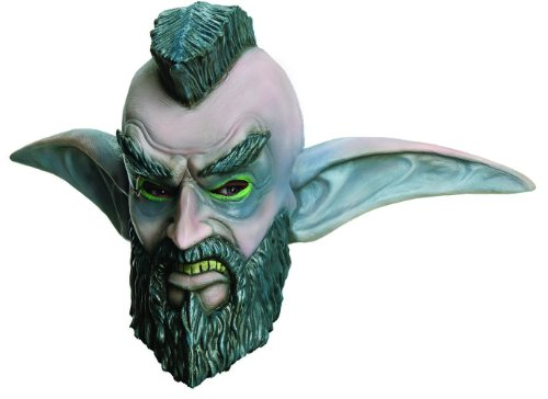 Rubie's Costume Co Men's World Of Warcraft Mohawk Grenade Overhead Latex Mask, Multi, One Size